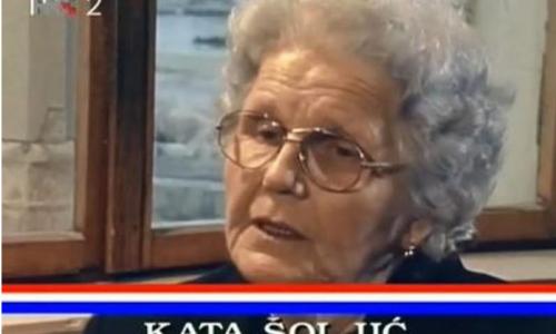 23. veljače 1922. rođena Kata Šoljić – majka četvorice sinova koji su dali život za hrvatsku slobodu