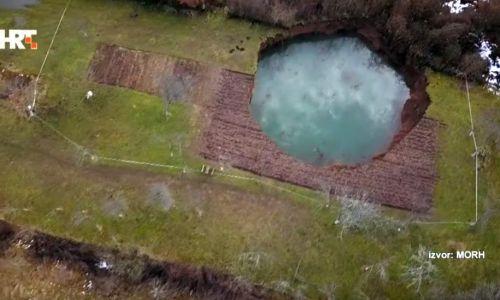 Znanstvenici istražuju oko 90 rupa u Mečečanima: 'Pojavile su se urušne vrtače, najopasniji tip vrtača' (VIDEO)