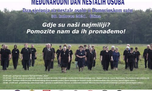 Međunarodni dan nestalih osoba i Dan sjećanja na nestale osobe u Domovinskom ratu