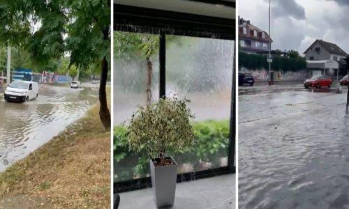 VIDEO Zagreb pogodilo jako nevrijeme, vatrogasci zatrpani pozivima, ceste pod vodom