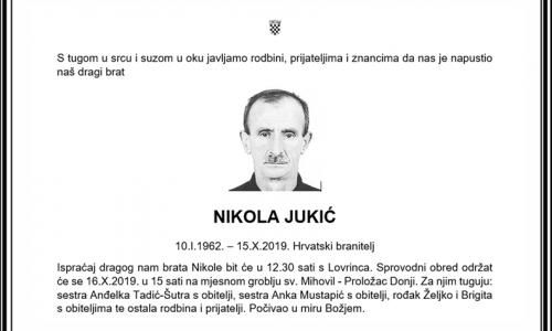 Posljednji pozdrav ratniku - Nikola Jukić