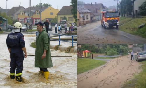 OD NEVREMENA DO ELEMENTARNE NEPOGODE: U nekoliko županija zabilježene poplave i odroni, stabla pala na automobile, vatrogasci u opasnosti od električne energije