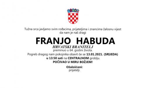 Franjo Habuda - Hrvatski branitelj 1957. - 2021.
