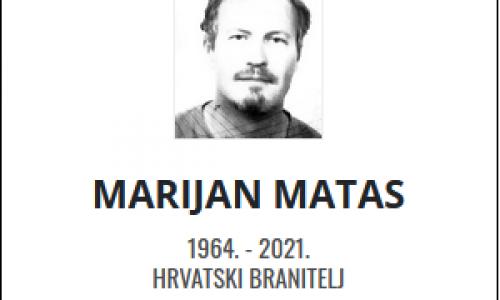 Marijan Matas - Hrvatski branitelj 1964. - 2021.