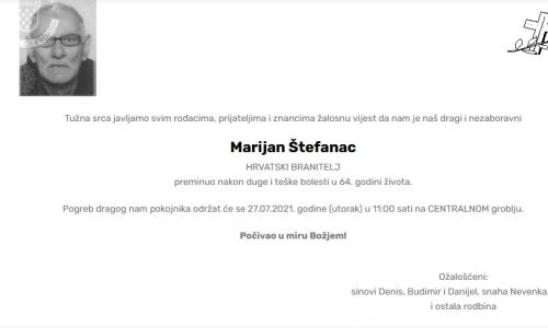 Marijan Štefanac - Hrvatski branitelj 1957. - 2021.