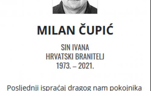 Milan Čupić - Hrvatski branitelj 1973. - 2021.