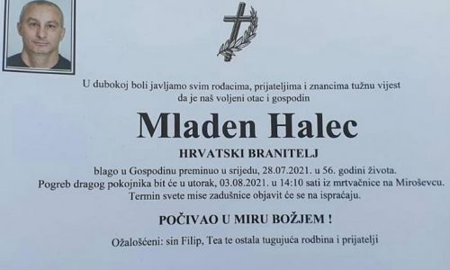 Mladen Halec - Hrvatski branitelj 1965. - 2021.
