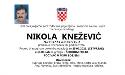 Nikola Knežević - Hrvatski branitelj 1953. - 2021.