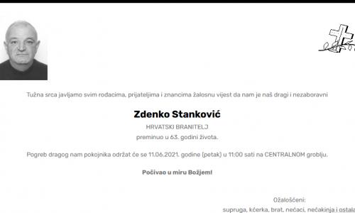 Zdenko Stanković - Hrvatski branitelj 1958. - 2021.