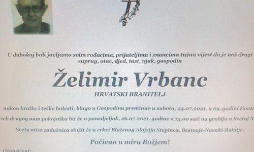Želimir Vrbanc - Hrvatski branitelj 1952. - 2021.