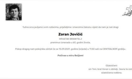 Zoran Jovičić - Hrvatski branitelj 1961. - 2021.